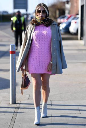 Amy Childs - Seen at The Only Way is Essex TV set
