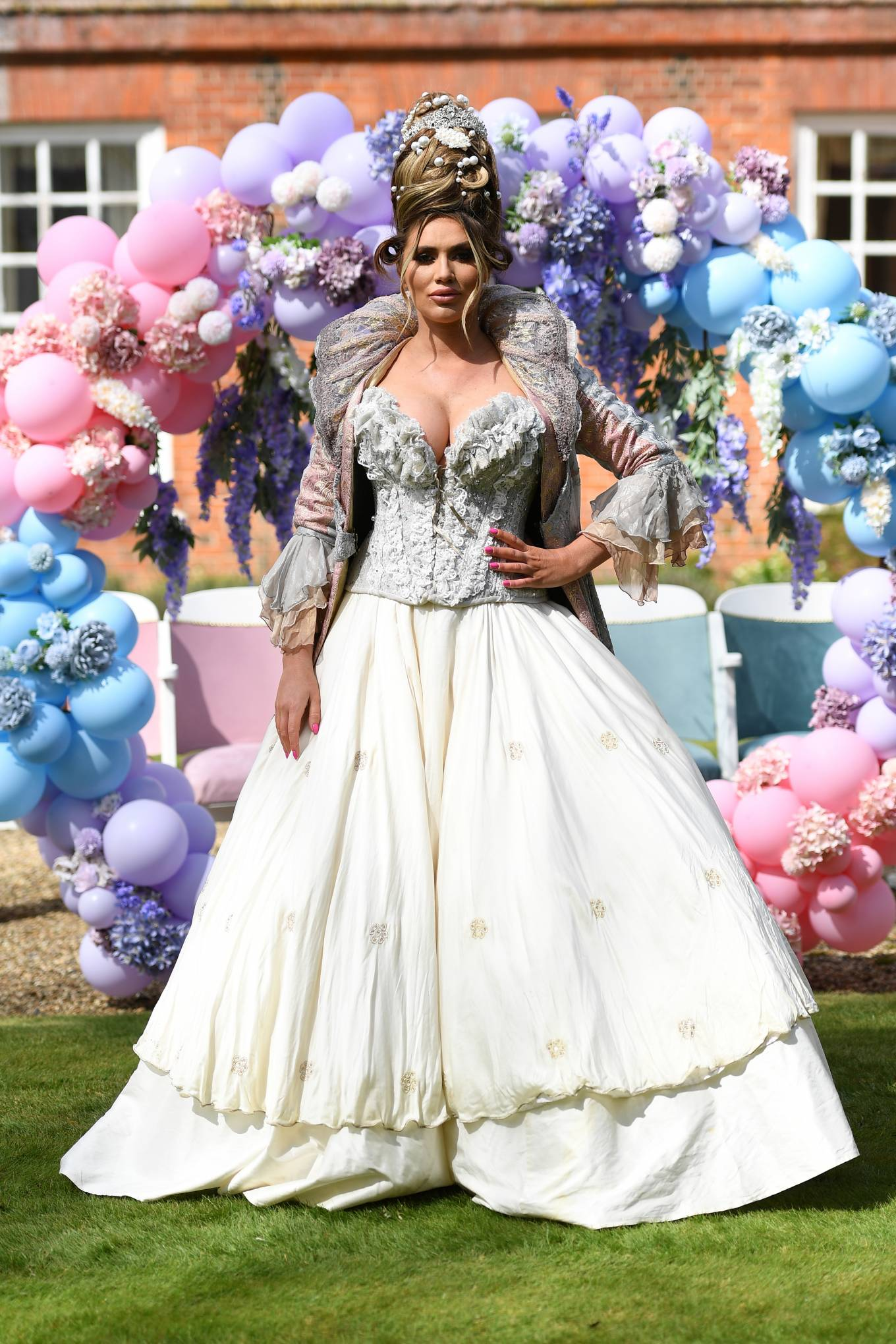 Amy Childs - The Only Way is Essex TV Show filming - Bridgerton Special in Essex