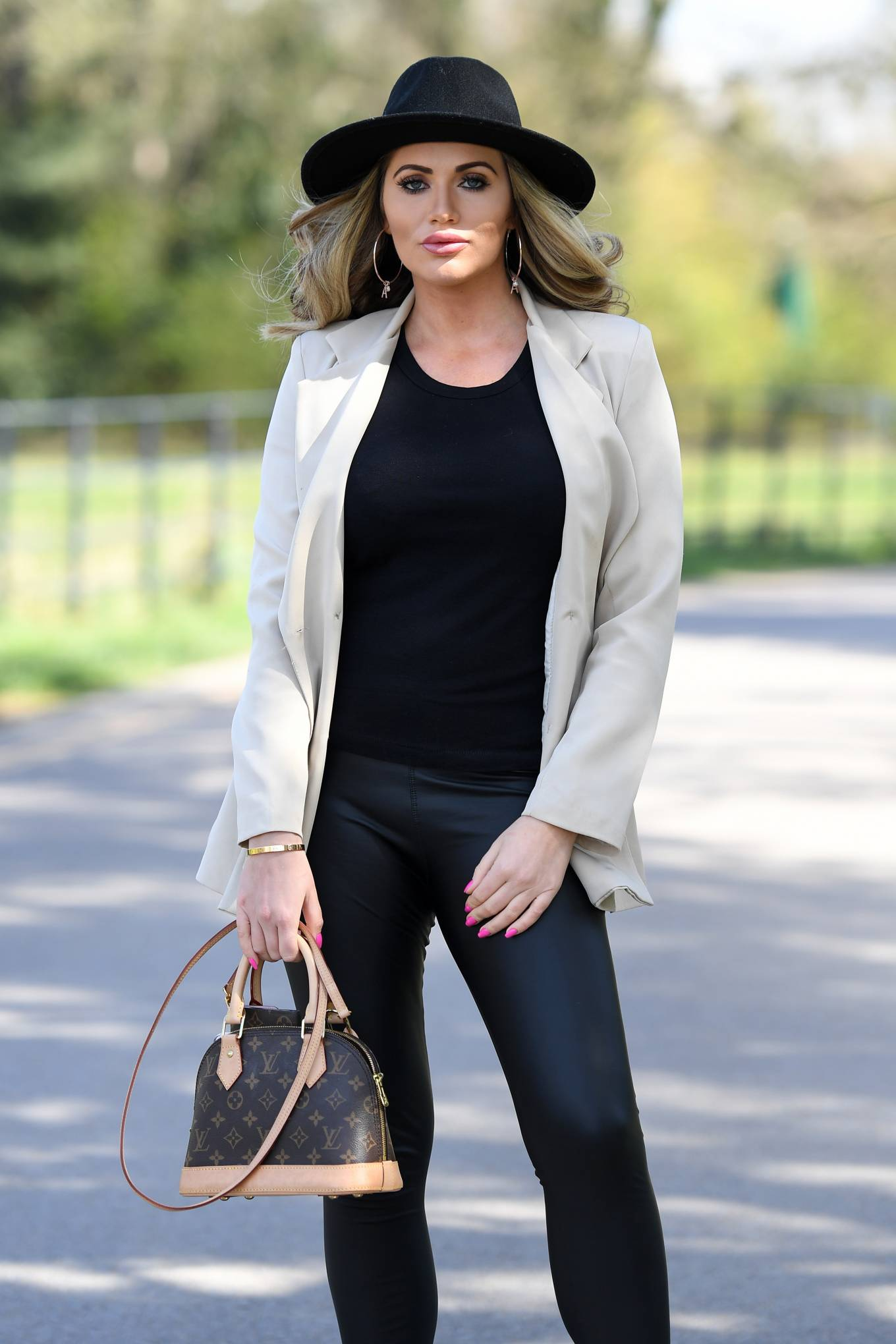 Amy Childs - The Only Way is Essex TV Show filming in Essex