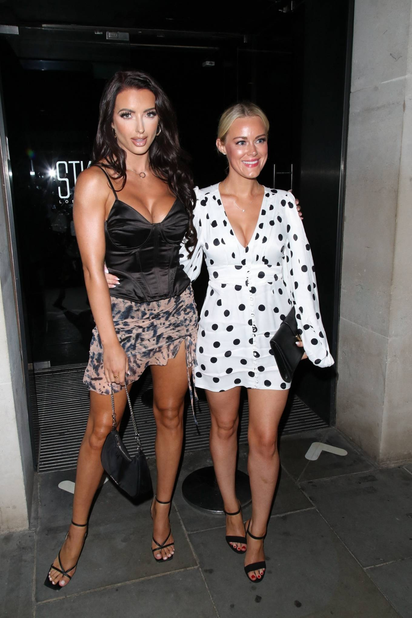Amy Day - With Georgia Townsend seen at the STK in London