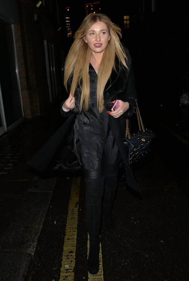 Amy Hart - Seen at Hakkasan restaurant in Mayfair