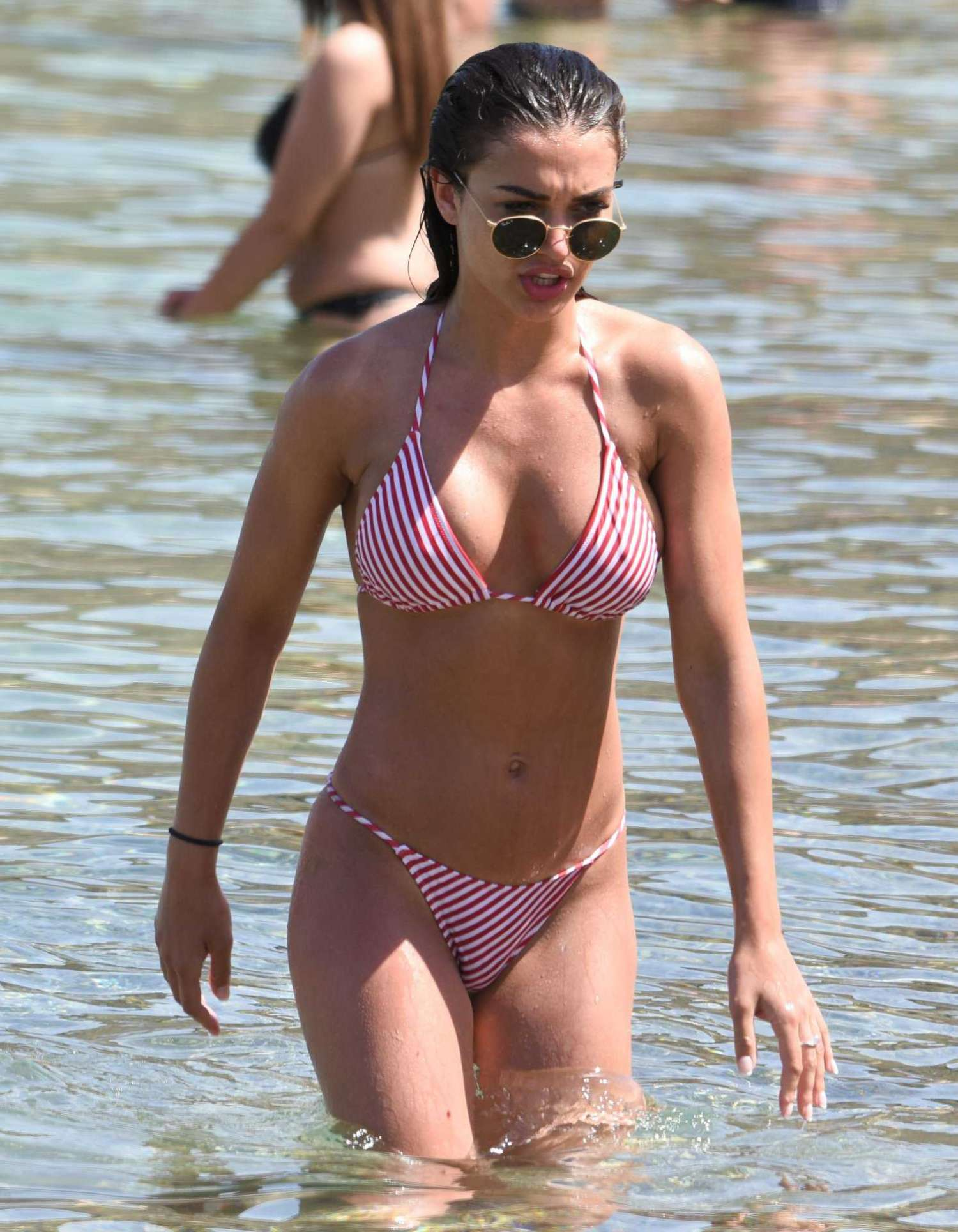 Amy Jackson in Bikini at the Beach in Mykonos