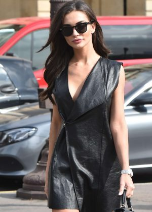 Amy Jackson in Mini Dress - Out in Paris