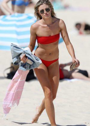 Amy Pejkovic - Bikini Candids on the beach in Sydney
