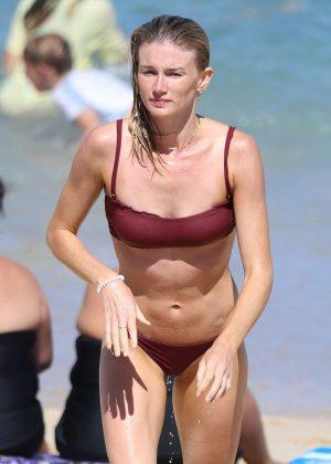 Amy Pejkovic in Bikini at Bronte Beach in Sydney