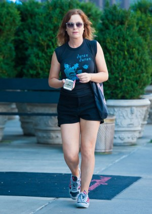Amy Poehler in Shorts Out in NYC