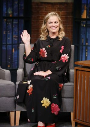 Amy Poehler on 'Late Night with Seth Meyers' in New York City