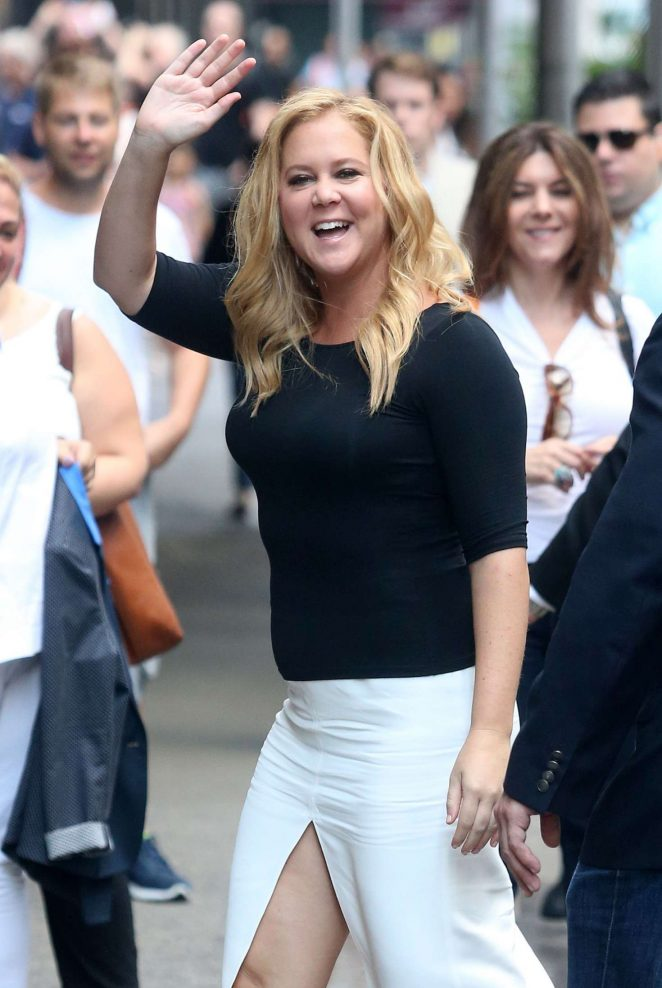 Amy Schumer at Good Morning America in New York