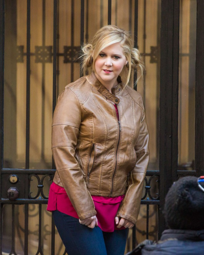 Amy Schumer - Filming 'Inside Amy Schumer' in New York