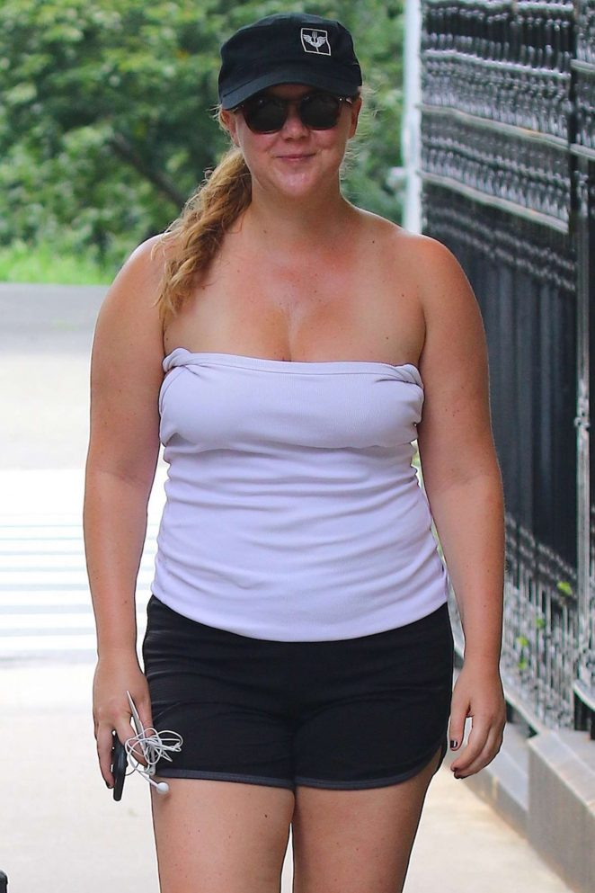 Amy Schumer in Shorts out in New York