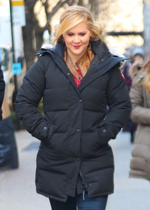 Amy Schumer on the Upper East Side in New York City