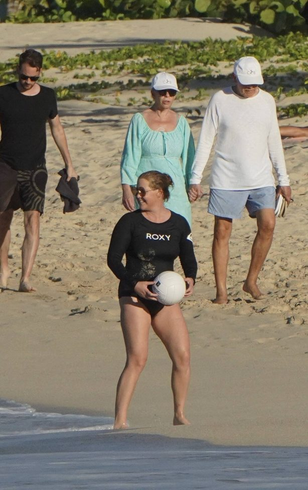 Amy Schumer - Seen at the beach in St. Barths