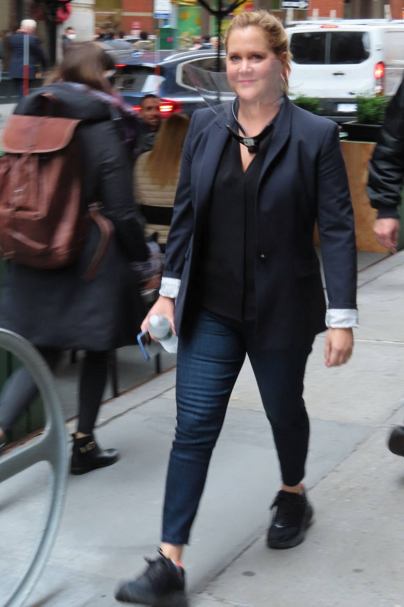 Amy Schumer 2021 : Amy Schumer – Seen on a Life and Beth set at Balthazar in New York-08