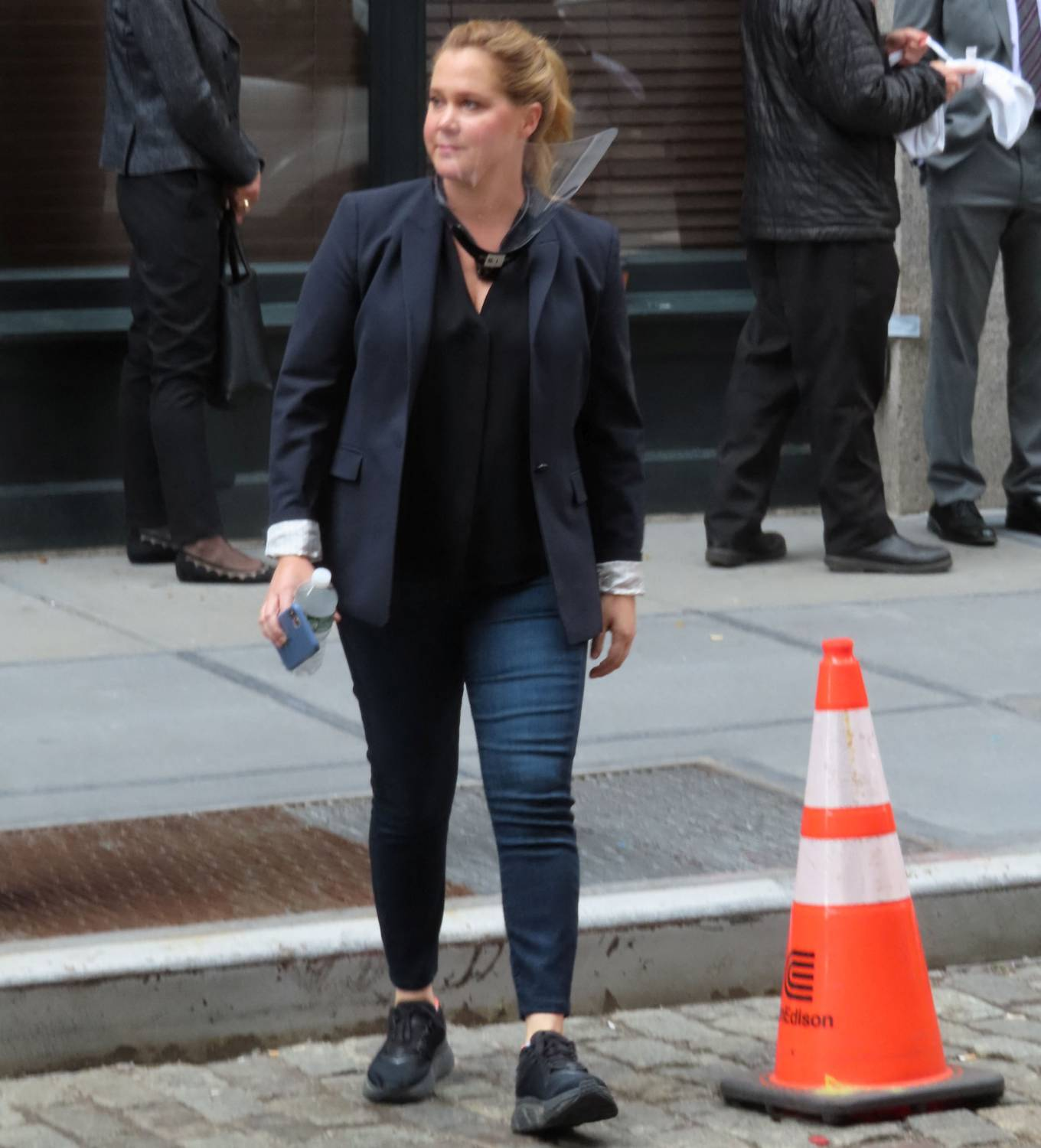Amy Schumer 2021 : Amy Schumer – Seen on a Life and Beth set at Balthazar in New York-10