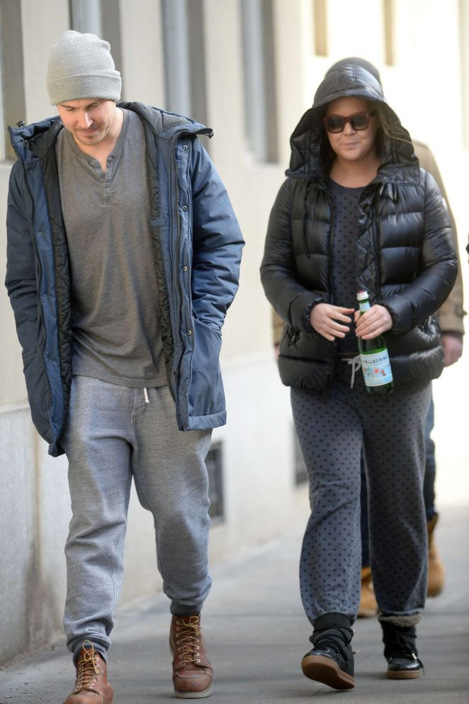 Amy Schumer with a friend on the Upper West side -08
