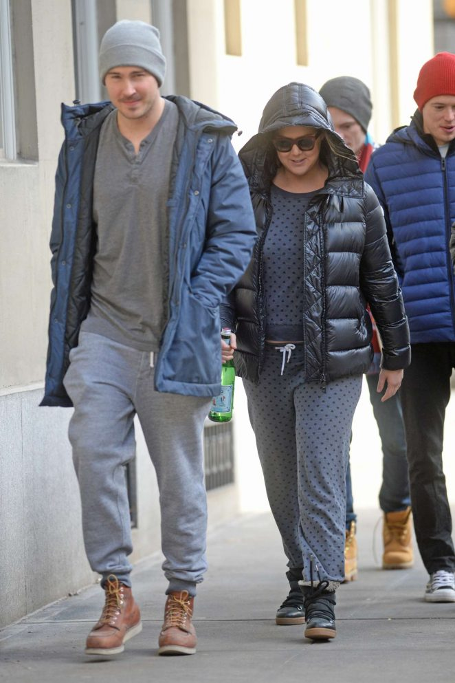 Amy Schumer with a friend on the Upper West side -12