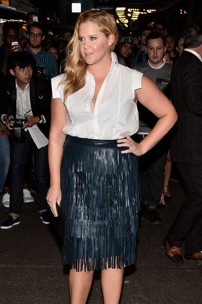 Amy Schumer - Zac Posen Fashion Show Spring 2016 NYFW in NYC