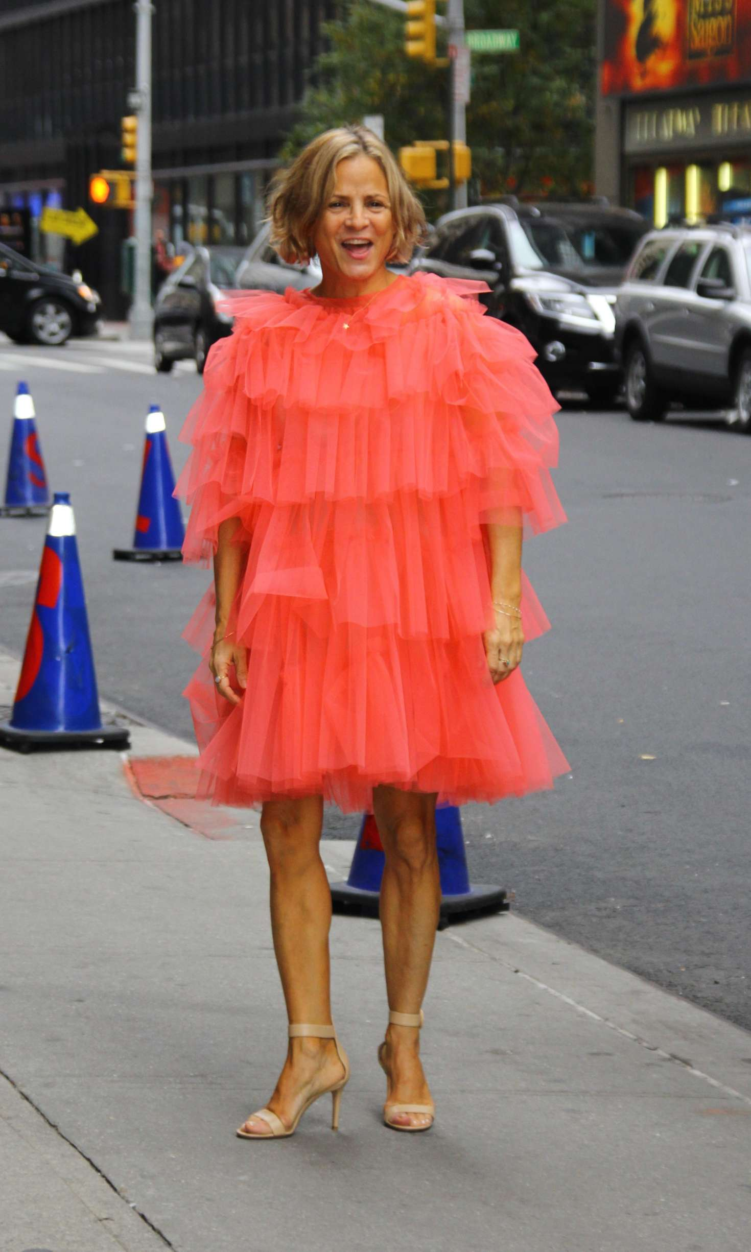 Amy Sedaris - Arriving to the 'Late Show with Stephen Colbert' in NYC