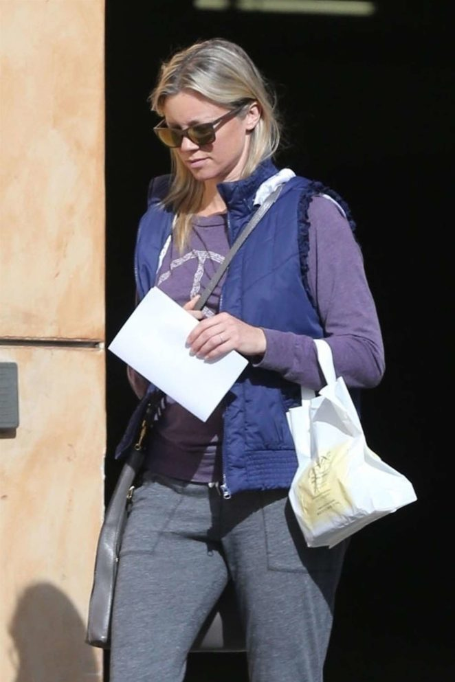 Amy Smart at California Fertility Partners clinic in Los Angeles