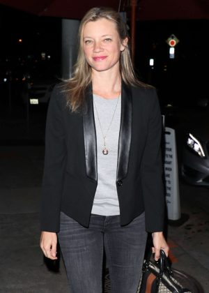 Amy Smart at Craig's Restaurant in West Hollywood