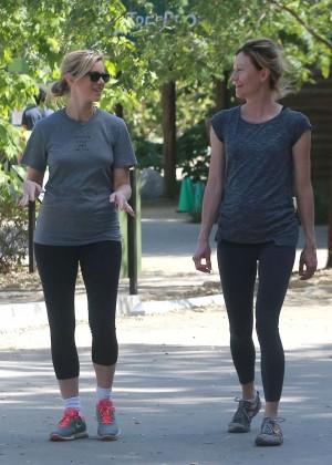 Amy Smart in Leggings Hiking -04