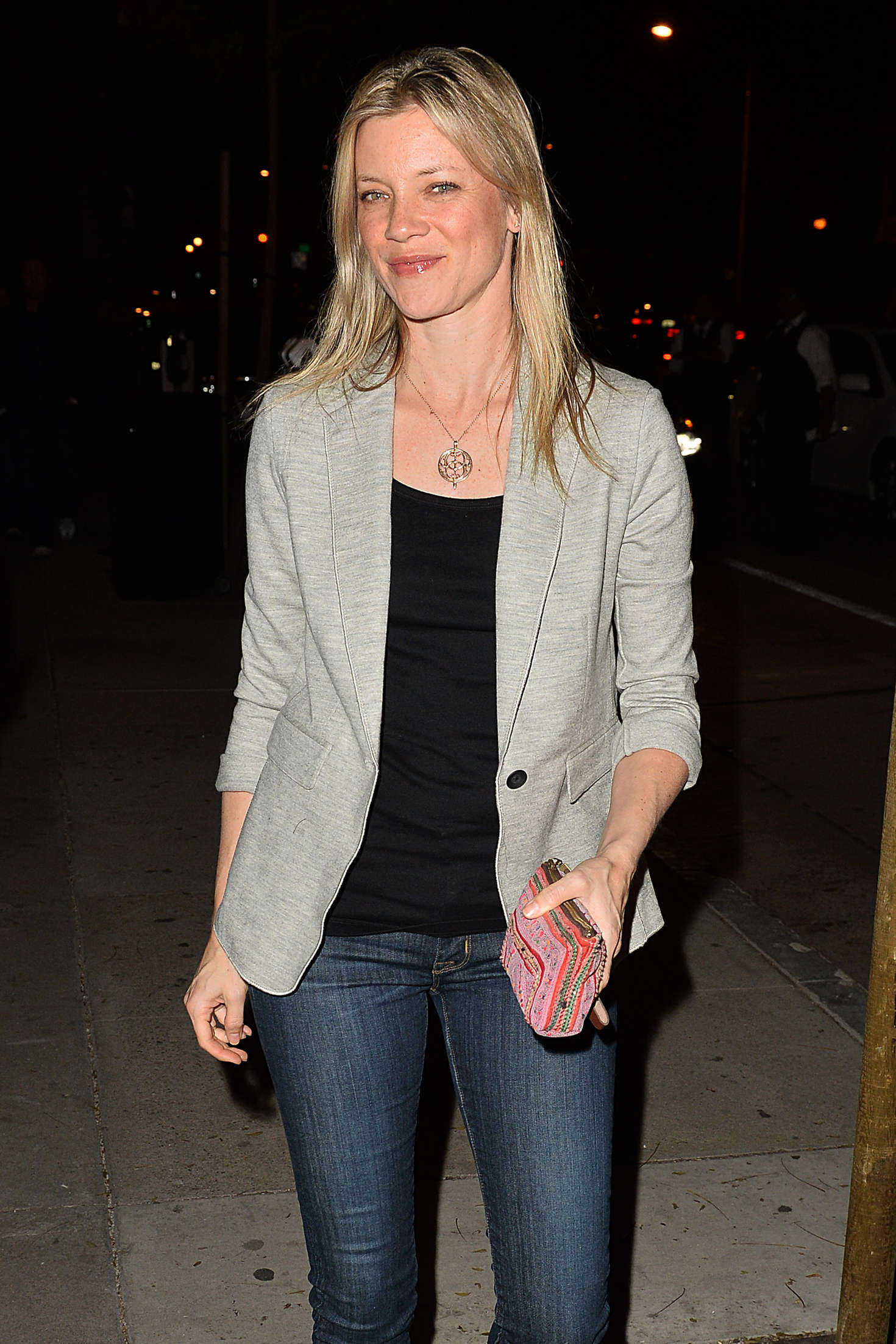 Amy Smart Leaves The Opening of Au Fudge in West Hollywood Rihanna