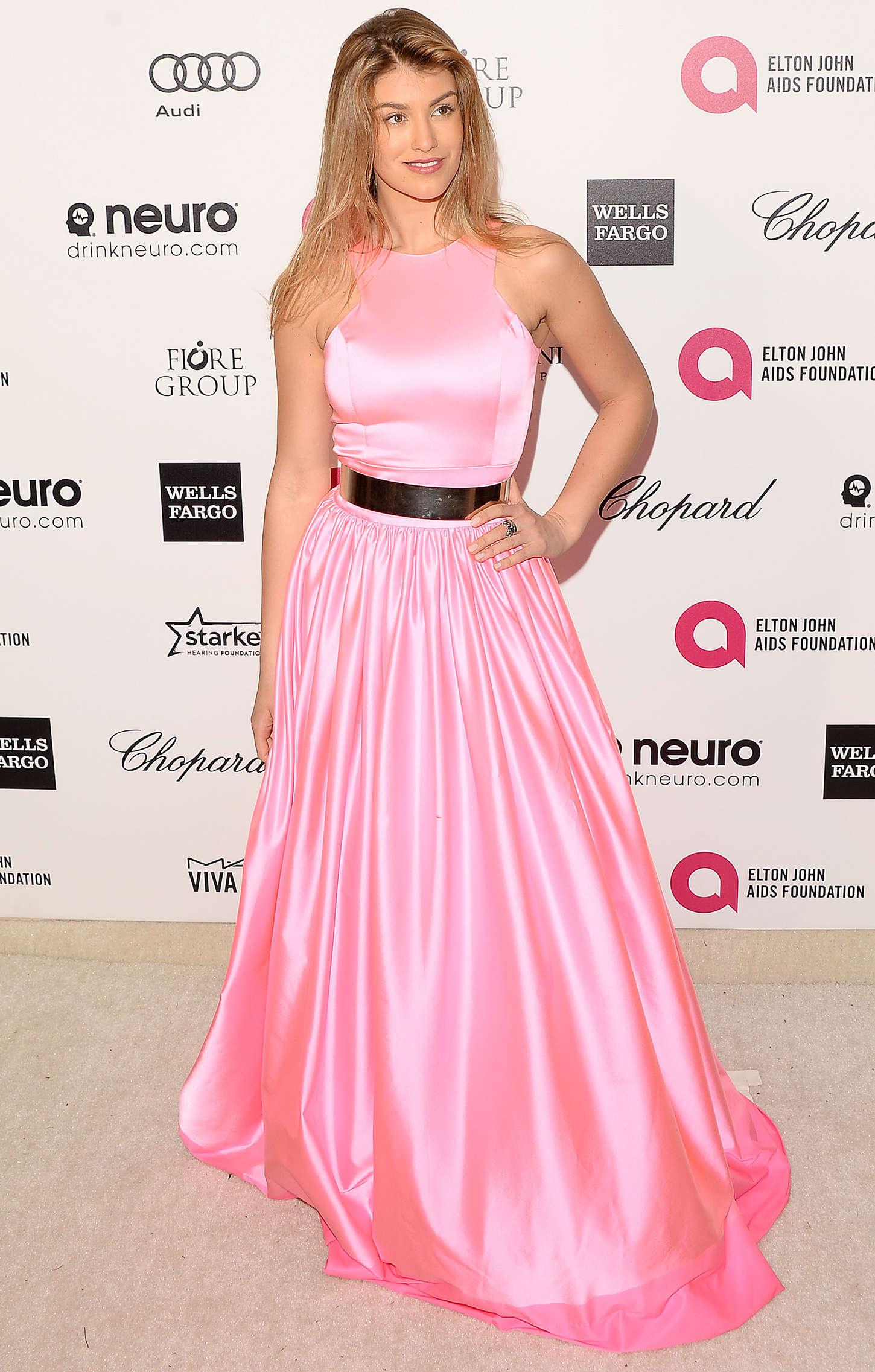 Amy Willerton - Oscars 2015 - Elton John AIDS Foundation Academy Awards Party