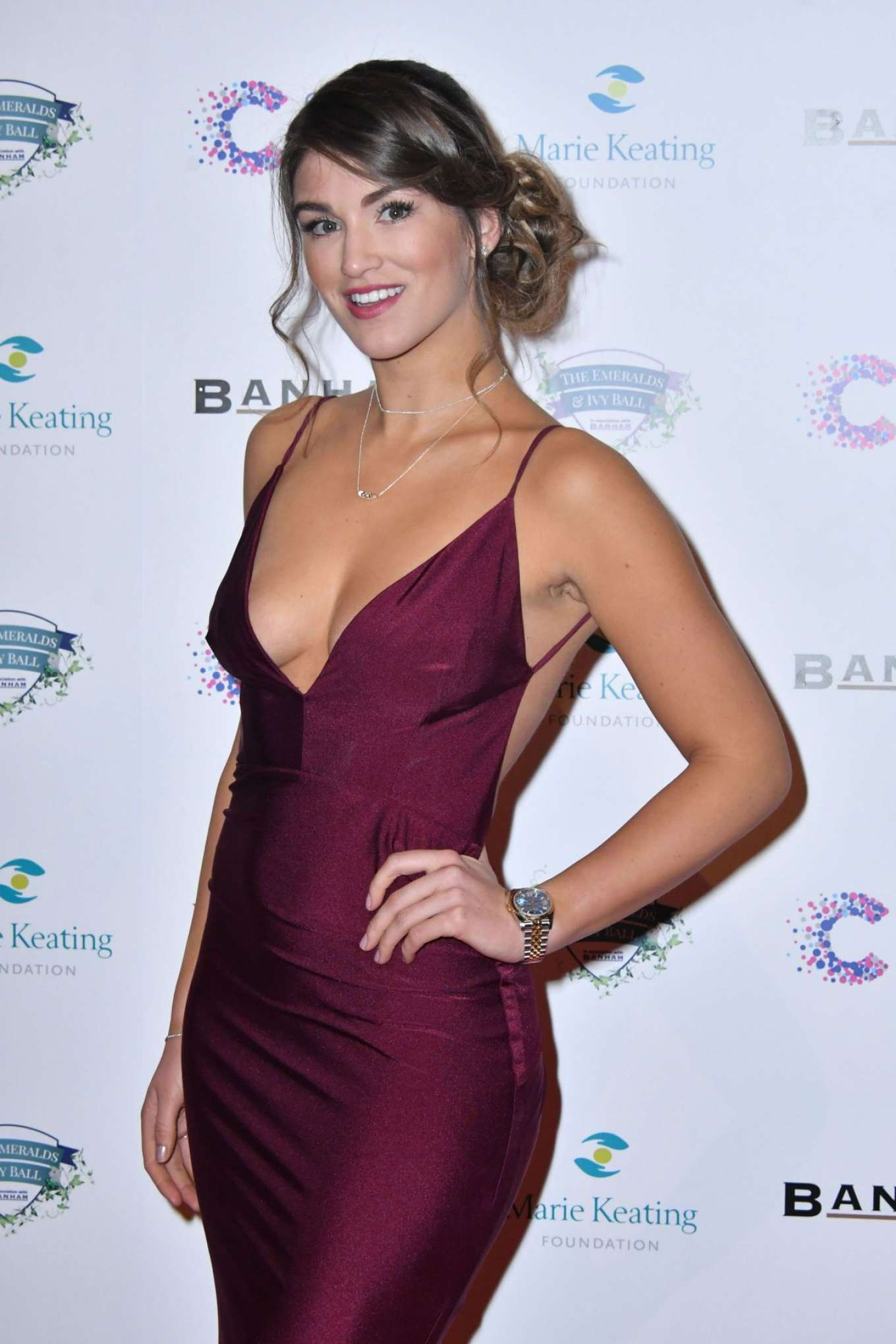 Amy Willerton - Emeralds and Ivy Ball 2017 in London