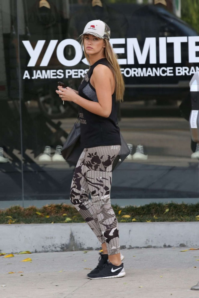 Amy Willerton in Tights out in Los Angeles