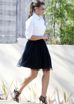 Amy Willerton in Black Skirt out in West Hollywood