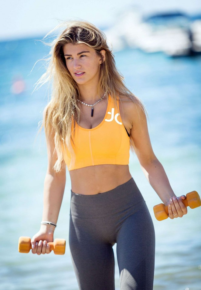 Amy Willerton in Tights -33