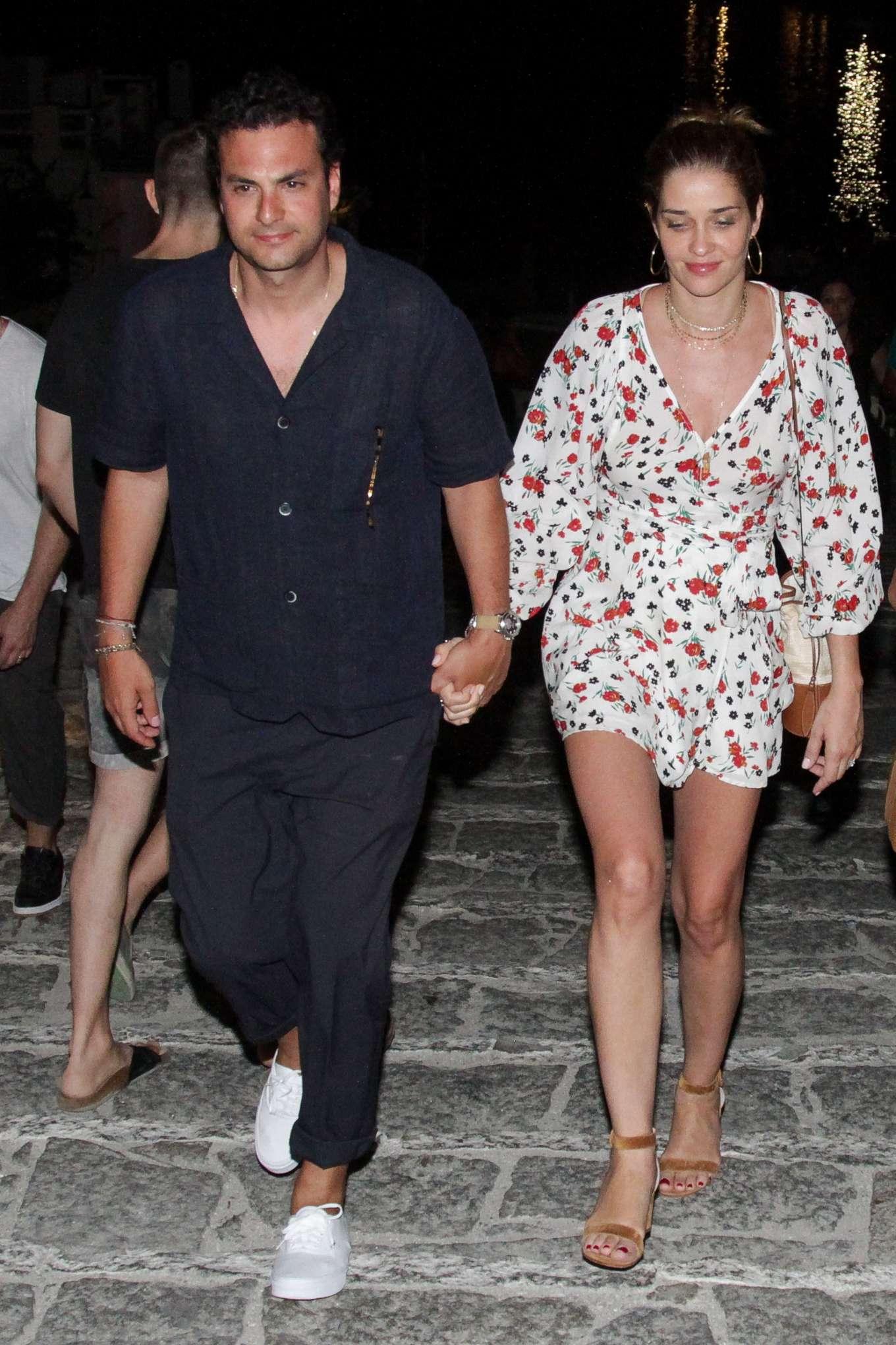 Ana Beatriz Barros and husband Karim El Chiaty - Night out in Mykonos