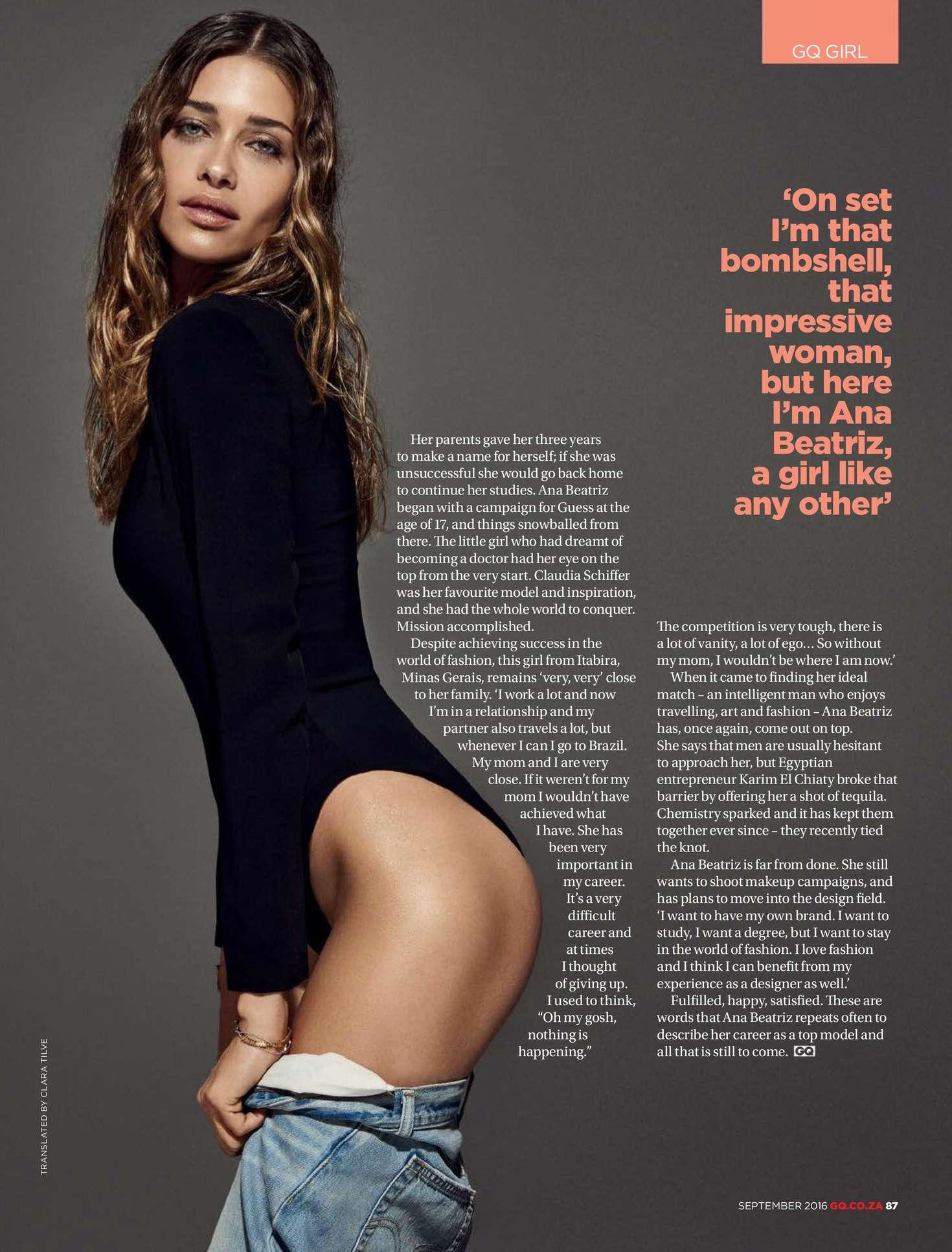 Ana Beatriz Barros - GQ South Africa Magazine (September 2016)
