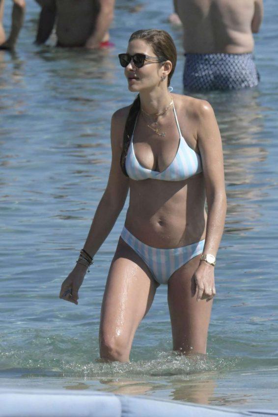 Ana Beatriz Barros in Bikini on the beach in Mykonos