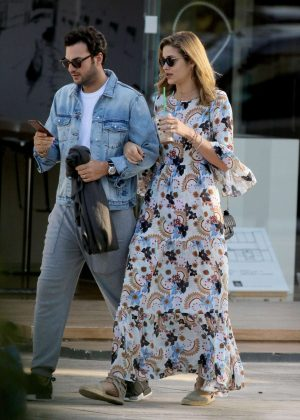 Ana Beatriz Barros in Long Dress out in Athens