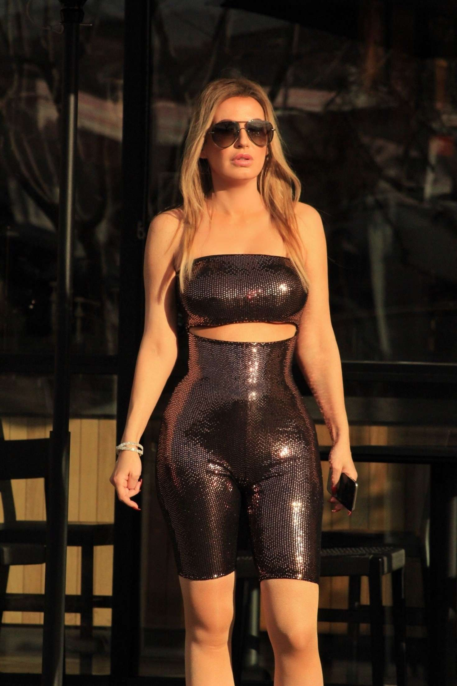 Ana Braga at a Starbucks in Los Angeles