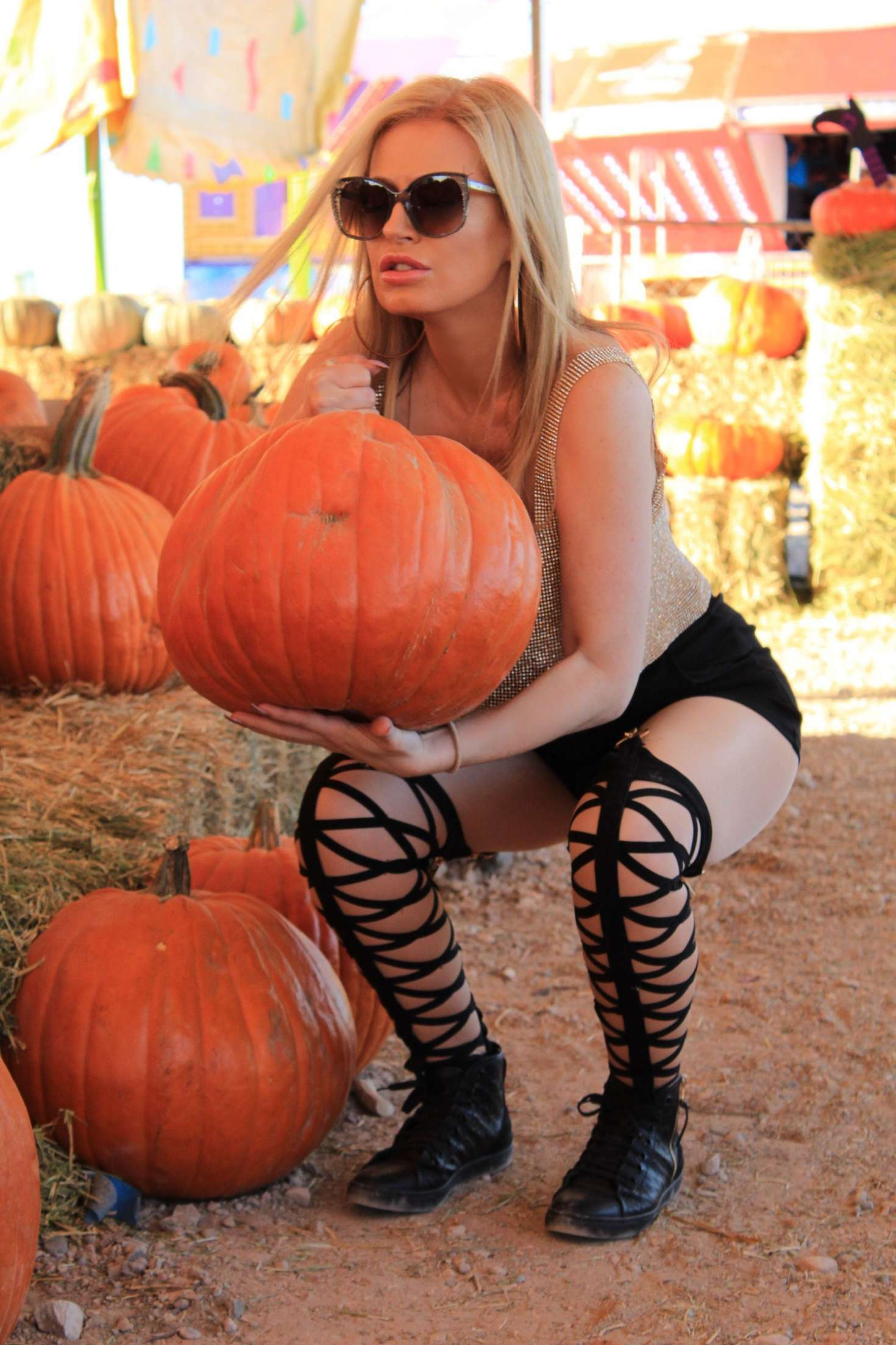 Ana Braga at Pumpkin Patch in Los Angeles