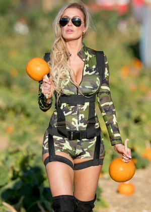 Ana Braga at the Pumpkin Patch in Los Angeles