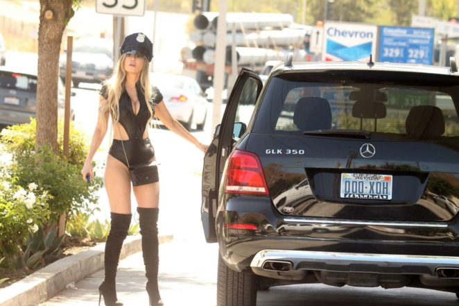 Ana Braga Getting Gas In Studio City