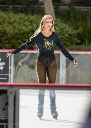 Ana Braga - Ice Skating in Calabasas