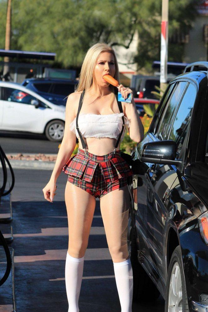 Ana Braga 2018 : Ana Braga in a school girl Halloween outfit -01