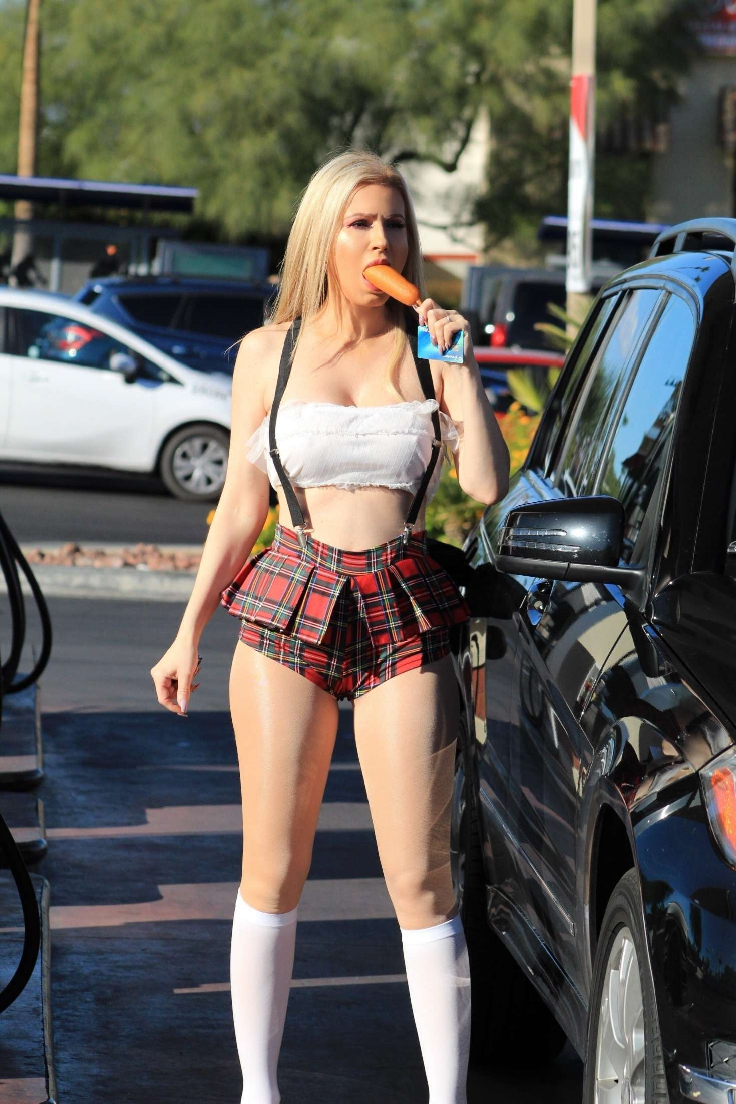 Ana Braga 2018 : Ana Braga in a school girl Halloween outfit -01