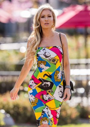 Ana Braga in Colorful Dress - Out in Calabasas
