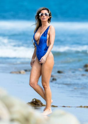 Ana Braga - In Swimwear seen on the beach in Malibu