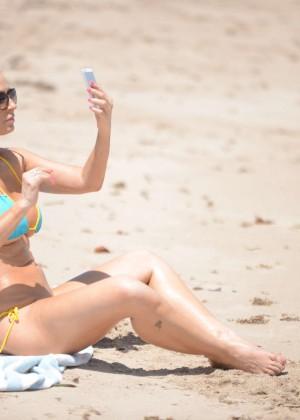 Ana Braga in Tiny Blue Bikini -05