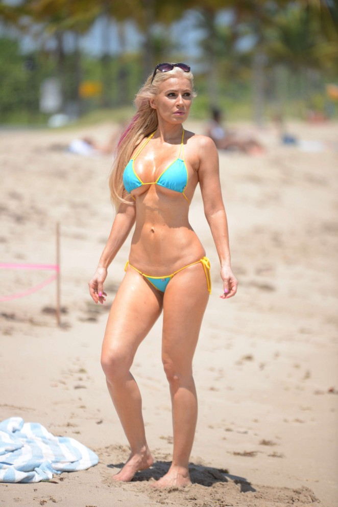 Ana Braga 2016 : Ana Braga in Tiny Blue Bikini -07