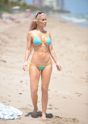 Ana Braga in Tiny Blue Bikini -09