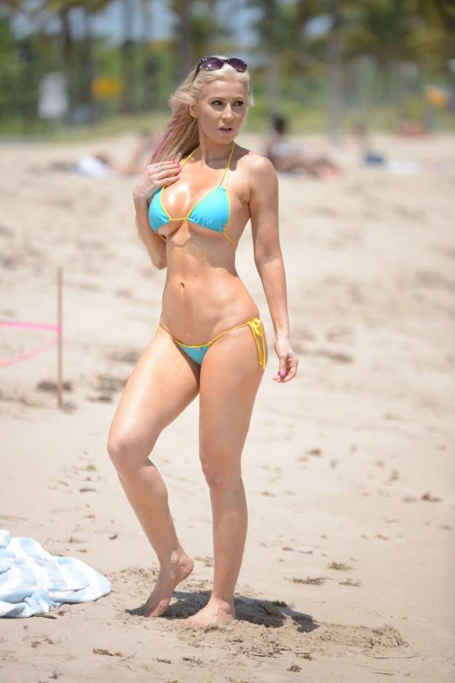 Ana Braga 2016 : Ana Braga in Tiny Blue Bikini -12
