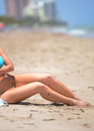 Ana Braga in Tiny Blue Bikini -21