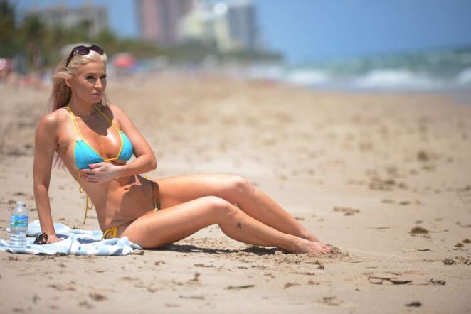 Ana Braga 2016 : Ana Braga in Tiny Blue Bikini -21